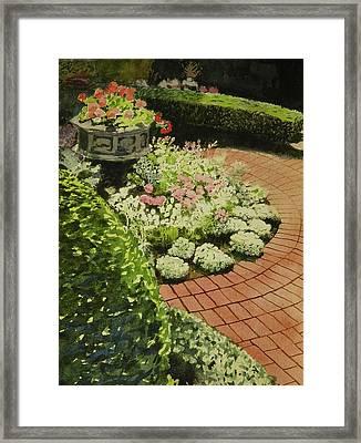 Hidden Garden In Quebec Framed Print by Walt Maes