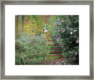 Hidden Gate Framed Print by Bellesouth Studio