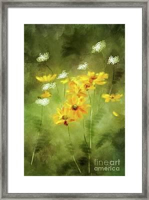 Framed Print featuring the digital art Hidden Gems by Lois Bryan