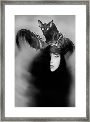 Hidden Half Framed Print by Mayumi Yoshimaru