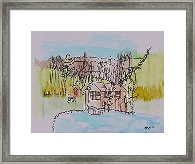 Framed Print featuring the painting Hidden Lake                      by Connie Valasco