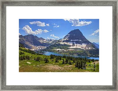 Hidden Lake And Bearhat Mountain Framed Print