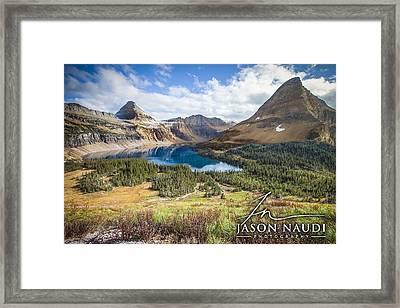 Framed Print featuring the photograph Hidden Lake by Jason Naudi