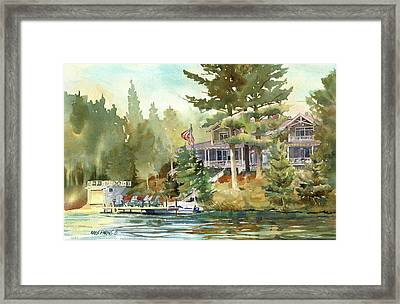 Framed Print featuring the painting Hidden Lake by Kris Parins