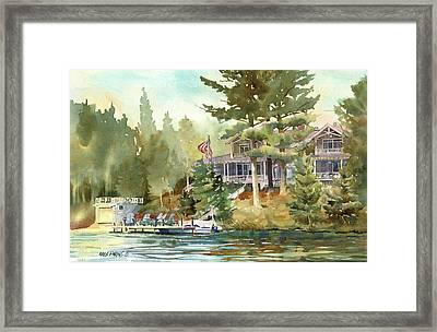 Hidden Lake Framed Print by Kris Parins