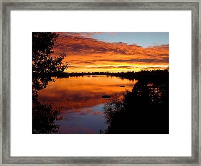 Hidden Lake Sunrise Framed Print by Thomas Lewis