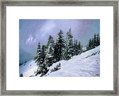 Hidden Peak Framed Print