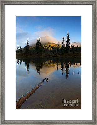 Hidden Peak Sunrise Framed Print by Mike Dawson