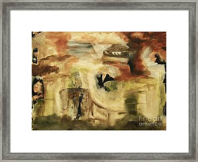 Hidden Places - Contemporary Modern Abstract Art Painting  Framed Print by Itaya Lightbourne