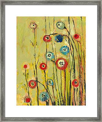 Hidden Poppies Framed Print by Jennifer Lommers