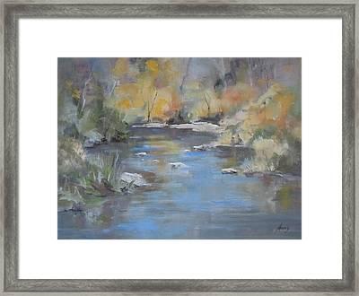 Hidden River Framed Print by Elaine Monnig