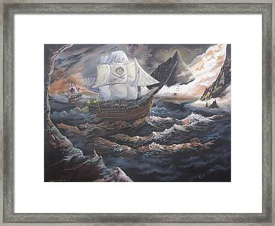 Hidden Skull Cove Framed Print