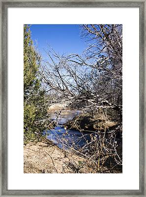 Hidden Swimming Hole Framed Print by Ricky Dean