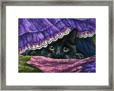 Hidden Under The Fabric Framed Print by Irina Garmashova-Cawton