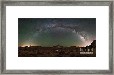 Hidden Valley Milky Way Pano Framed Print