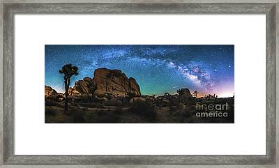 Hidden Valley Milky Way Panorama Framed Print