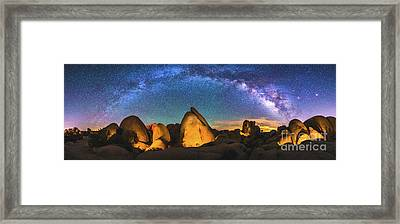 Hidden Valley Milky Way Framed Print