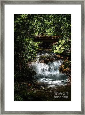 Hidden Waterfall At Chickasaw National Recreation Area Framed Print by Tamyra Ayles