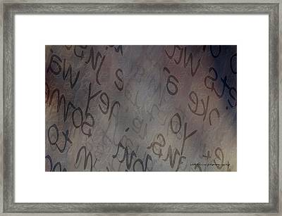 Hidden Within Words Framed Print