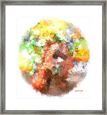 Hidding Face - Da Framed Print