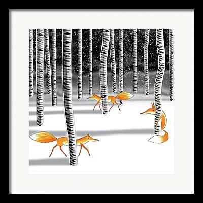 Wintertime Drawings Framed Prints