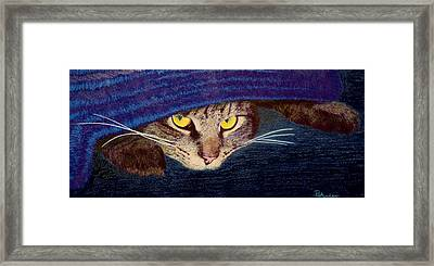 Framed Print featuring the drawing Hide And Seek by Brent Ander