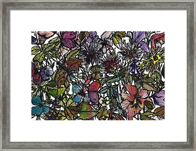 Hide And Seek In Wildflower Bushes Framed Print by Garima Srivastava