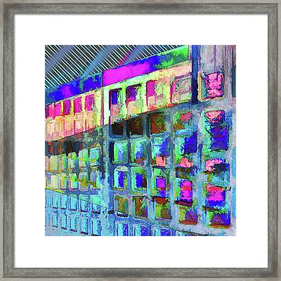 Framed Print featuring the digital art Hide And Seek by Wendy J St Christopher