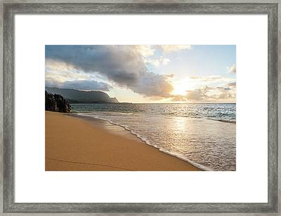 Hide Away Beach Framed Print