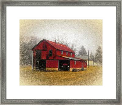 Hide Away Framed Print