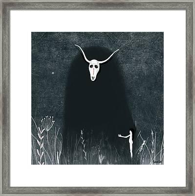 Hide My Soul Framed Print by Soosh