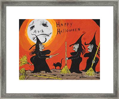 Hide The Halloween Candy Framed Print