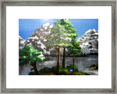 Framed Print featuring the painting Hideaway by Saundra Johnson