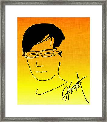 Hideo Kojima Framed Print by Kyle West