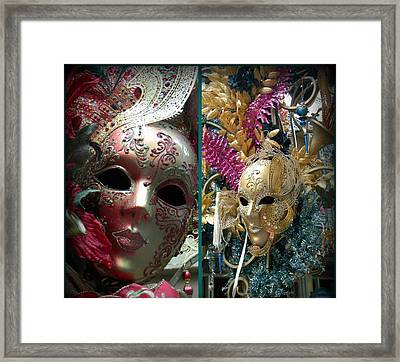 Framed Print featuring the photograph Hiding Double Trouble by Amanda Eberly-Kudamik