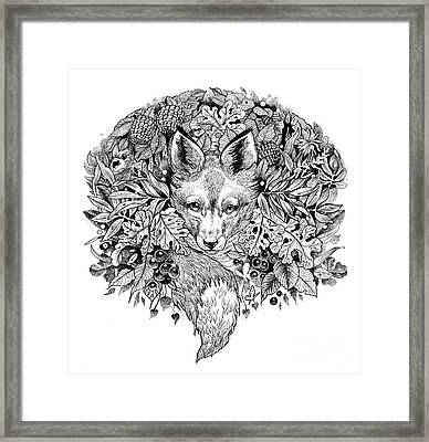 Hiding Fox Framed Print