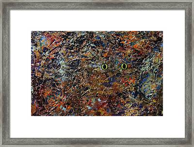 Hiding Framed Print by James W Johnson