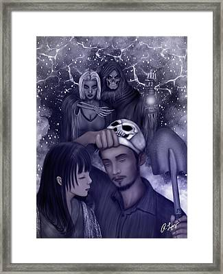 Hiding Secrets Fantasy Art Framed Print