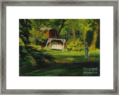 Hiedi's Swing Framed Print