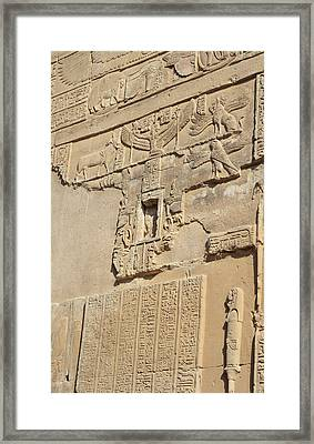 Framed Print featuring the photograph Hieroglyphic by Silvia Bruno