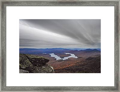 High Above Lake Placid New York Framed Print by Terry DeLuco