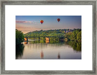 Framed Print featuring the photograph High Above The Androscoggin by Rick Berk