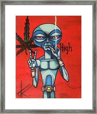 High Alien Framed Print
