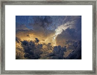 High Among The Clouds Framed Print by HH Photography of Florida