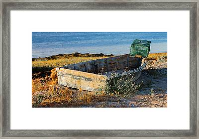 Framed Print featuring the photograph High And Dry by David Hufstader