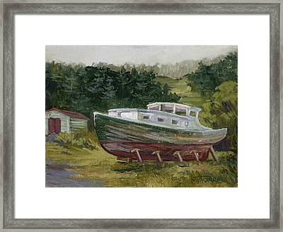 High And Dry Framed Print by Jane Thorpe
