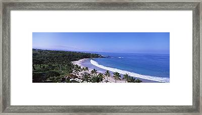 High Angle View Of A Beach, Mauna Kea Framed Print by Panoramic Images