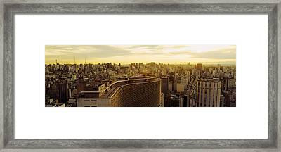 High Angle View Of A City, Copan Framed Print by Panoramic Images