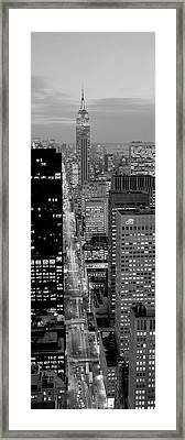 High Angle View Of A City, Fifth Avenue, Midtown Manhattan, New York City, New York State, Usa Framed Print