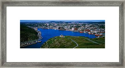 High Angle View Of A City, Signal Hill Framed Print by Panoramic Images